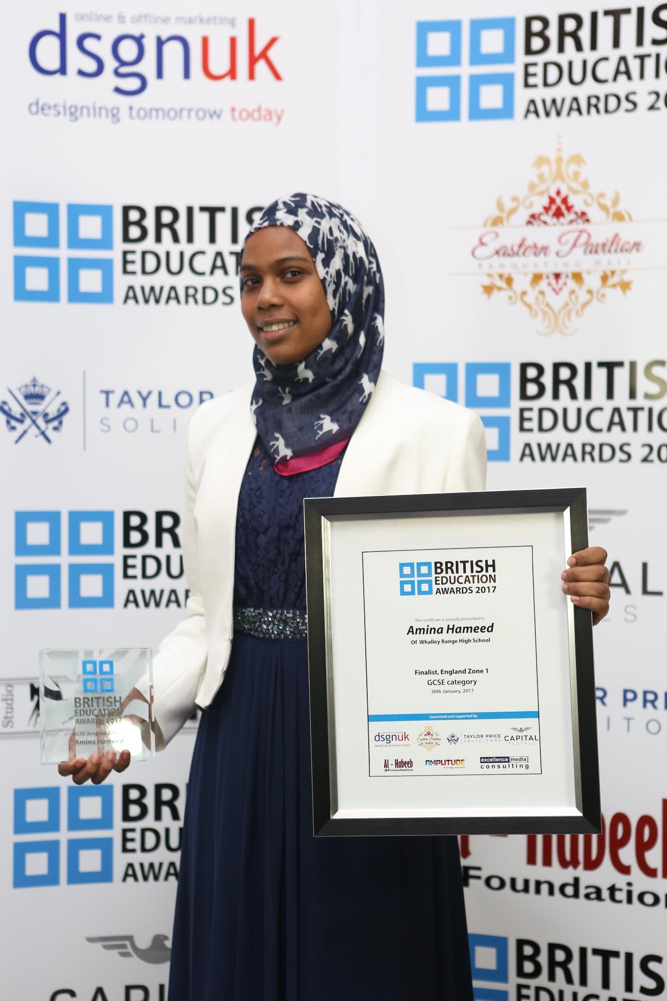 Amina Hameed-GCSE-England Zone 1