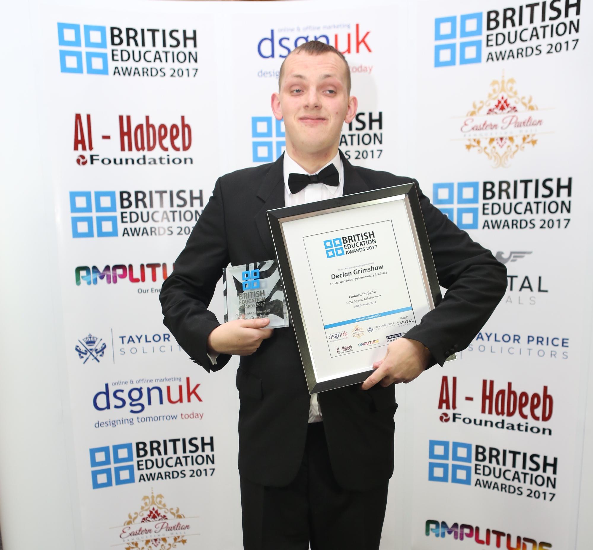 Declan Grimshaw-Special achievement
